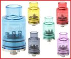 Fishbone Style SS and Glass RDA Red Blue Yellow Purple Green or Black