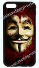 GUY FOX MASK V FOR VENDETTA PHONE CASE COVER FOR IPHONE X 8 7 6S 6 PLUS 5S 5C 4S