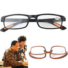 RetroSquare Frame No Line Bifocal Progressive Clear Lens Reading Glasses Unisex