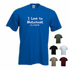 'I Love to Motorboat (my Girlfriend)' Funny Motorboating T-shirt Tee