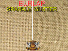 """Burlap Jute Natural SPARKLE GLITTER Fabric / 52"""" Wide / Sold by the yard"""