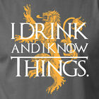 I DRINK AND I KNOW THINGS brace yourself game of thrones Lannister sigil T-Shirt
