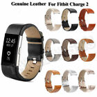 Genuine Leather Replacement Watch Band Bracelet Strap Belt For Fitbit Charge 2