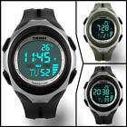 Digital Temperature Thermometer Watch Shock Waterproof Skmei G LED Quartz Mens