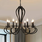 Black White Modern Chandelier Lighting Iron Pendant Lamp Ceiling Light For Home
