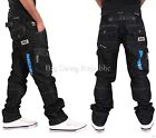 Peviani Mens Fenchurch Black Cargo Combat Star Jeans Is Nappy Time G Money W42