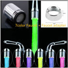 1X LED Water Stream Faucet Light Coconut Carbon Water Saving Tap Clean Filter RF