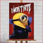Vampire Dracula Minions Framed Canvas Print Picture Despicable Me 3 Wall Art A1