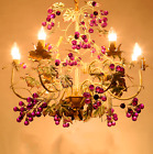 Retro Crystal Light Chandelier Candle Iron Pendant Lamp Fixture For Family Party