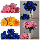 8 Silk Peony BUSHES Wedding Party Artificial FLOWERS Centerpieces WHOLESALE