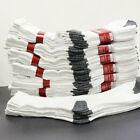 5 200 Dozens Wholesale Lots Men White W Black Sports Casual Cotton Crew Socks