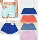 american apparel denim high waist cuff short jeans rsadm303