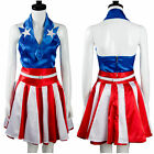 captain america the avengers suit - The Avengers Captain America Cheerleader Halloween Dress Cosplay Costume Suit