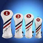 Golf Headcovers Set Driver Fairway Hybrid UT For Taylormade Callaway #3 #5Woods