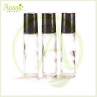 10 x10ml Thick Clear Glass Rollerball Bottle/Roll On Bottles/Steel Roller Ball