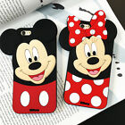 3D Mickey Minnie Silicone Phone Case For Samsung S9 iPhone X 5 6 7 8 Huawei LG