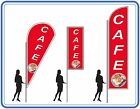 Cafe flag Kit -inc flag-pole- Choice of free base instant advertising for cafes