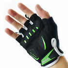 Rydit Fingerless Bike Gloves Mittens Sport Microfibre Elasticated Gel Inesrts