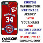 Custom Washington Nationals Jersey Phone Case w/ Your Name & # for iPhone