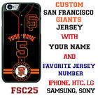 San Francisco Giants Baseball Jersey Phone Customized for LG HTC Motorola etc