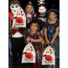 Halloween Spider Pumpkin Trick Or Treat Bags Canvas Gift Sack  Drawstring Bags