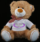 Personalised Teddy Bear 30cm Lovely Birthday Gift Boy or Girl Print Cute