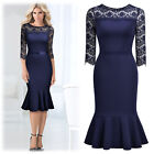 Women's Retro Elegant Business Workwear Cocktail Party OL Pencil Mermaid Dress