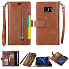 For Samsung Galaxy Note 8/S8/S7 Phone Case Cover Card Wallet Flip Leather Stand <br/> For Samsung S9/S9 Plus, USPS Free Shipping, US Seller