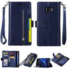For Samsung Note 9/S10/S9/S8/S7 Phone Case Cover Card Wallet Flip Leather Stand