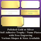 ENGRAVED TROPHY PLATES / METAL NAME PLAQUES / LABELS - ENGRAVED FREE