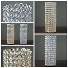 """16"""" tall Faux Crystal Beaded Candle Holder Centerpiece Wedding Decorations SALE"""