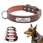 Custom Personalized Dog Collars Leather for Small Medium Large Breeds 3 Colors