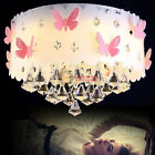 Modern Crystal Butterfly Pendant Light LED Lamp Ceiling Chandelier Lighting Chip