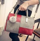 Patchwork Zipper Closure Single Strap Pu Leather Shoulder Bag For Women