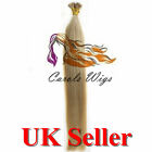 "18"" 1g 6A 22 I-Tip Double Drawn Indian Remy Human Hair Extensions UK"