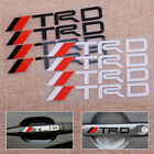 4x Car Auto L/R Door Handle Emblem Badge Body Sticker Decal Fit For Toyota TRD