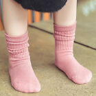 1 Pair Kids Warm Socks Candy Color Cotton Socks Baby Girls B
