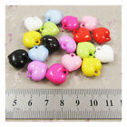 15 HEART SHAPED CHARMS ACRYLIC BEADS 16MM *10 COLOURS* JEWELLERY MAKING BEADING