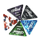 100Pcs Alice Medium 0.71mm Heavy 0.96mm Triangle Guitar Picks Plectrum Celluloid