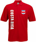 WM 2018 Costa Rica Polo-Shirt Trikot Name Nummer