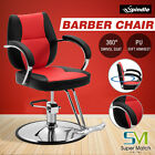 Hydraulic Salon Barber Chair Hair Styling Beauty Spa Shampoo Equipment Red