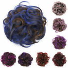 Women Bun Headband Colorful Hair Donut Hair Roller Curly Short Hairband 27ah