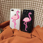 Bling Flamingo Pattern Silicone Protective Case Cover For iPhone 6 7 8 Plus