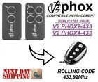 V2 PHOX2-433 / PHOX4-433 compatible remote control transmitter, 433,92Mhz clone