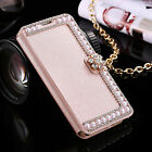 Bling Diamond Flip Luxury Leather Card Wallet Case Cover Fr iPhone 5 6s 7 Plus 8
