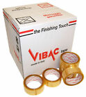 VIBAC 830 CLEAR SOLVENT PACKING PACKAGING TAPE, 48MM X 66M, CHOOSE QUANTITY