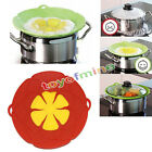 Home Garden - 2 Colors Kitchen Cooking Silicone Spill Stopper Lid Pan Pot Cover Overflows Boil