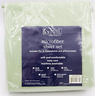 Meadow Green, Full Size, Shavel Home Products Micro Fiber 4-Piece Sheet Set