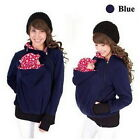 Baby Carrier Kangaroo Hoodie Maternity Jacket Polar Fleece Coat Warm Zip Sweater