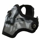 Airsoft Mask Metal Mesh Half Face Protection Strike Style Black Khaki ArmyGreen
